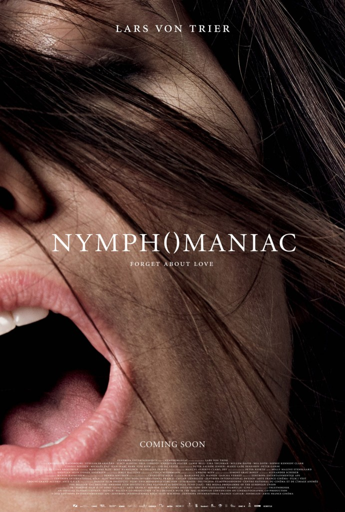 Nymphomaniac Charlotte Gainsbourg Close Up Poster