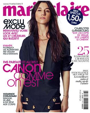Charlotte Gainsbourg Marie Claire Février 2014