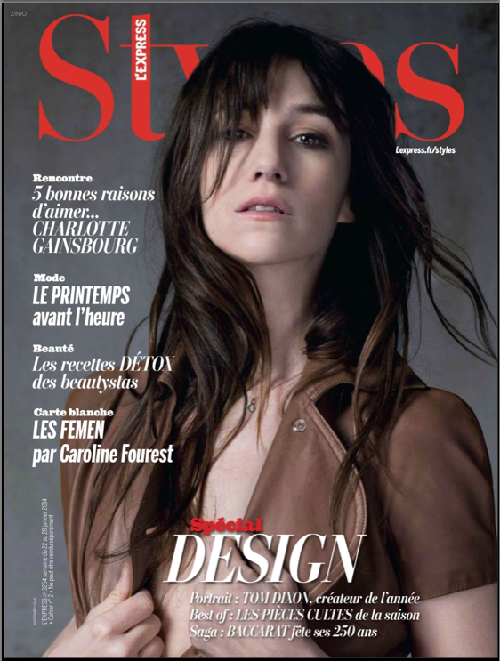 Charlotte Gainsbourg par Kate Barry / H&K pour L'Express Styles