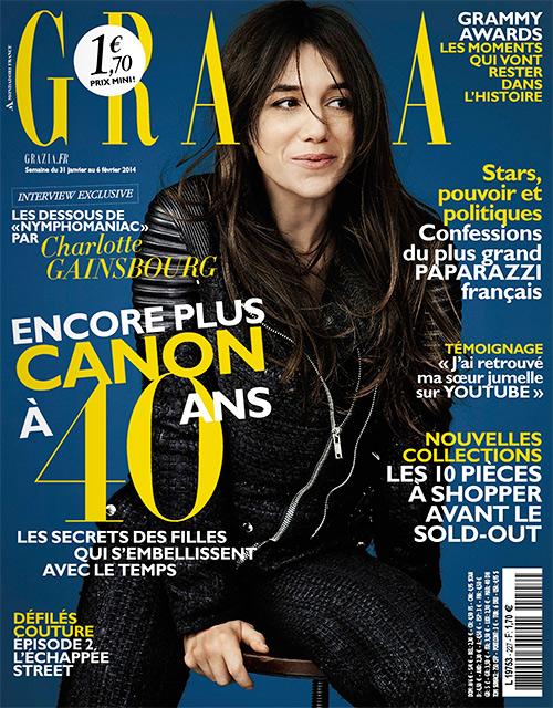 charlotte gainsbourg grazia (31 janvier 2014)