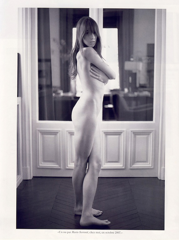 Charlotte Gainsbourg par Mario Sorrenti dans Vogue (Dec 2007-Jan 2008)