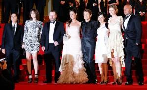 """L'équipe du film de """"Antichrist"""" à la première du film au 62ème festival de Cannes le 24 mai 2009. Photo de Michael Buckner/Getty Images Europe"""