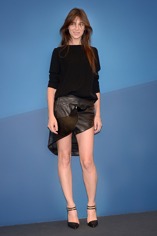 Charlotte Gainsbourg in Anthony Vaccarello Fall/Winter 2014-2015.